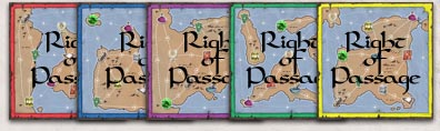 Miniature Right of Passage boards allow you to play on opposing islands